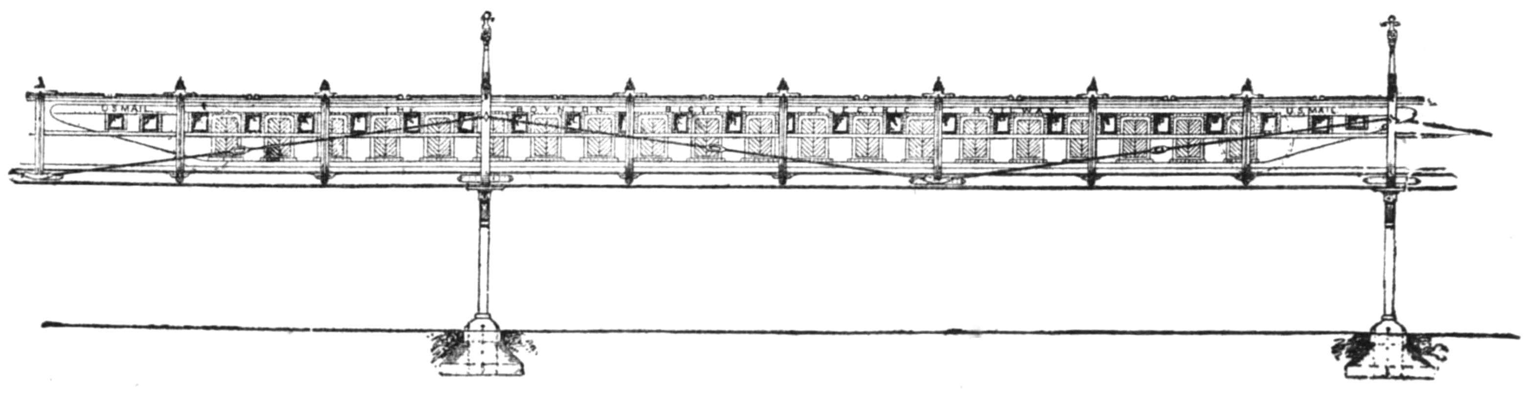 The Boynton Electric Bicycle Railroad, a pointy monorail.